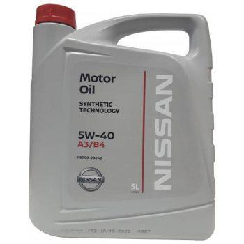 Масло моторное Nissan 5W-40 5л KE900-90042
