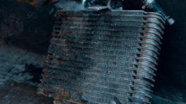 Чистка радиатора вариатора на автомобиле Nissan в Санкт-Петербурге